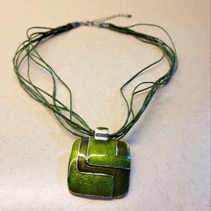 4/$20 Green String Necklace